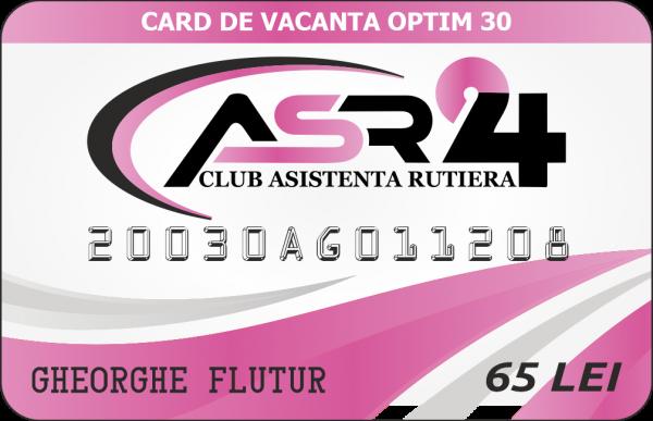 CARD DE VACANTA OPTIM 30 - ASR24