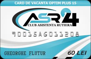 CARD DE VACANTA OPTIM PLUS 15 - ASR24